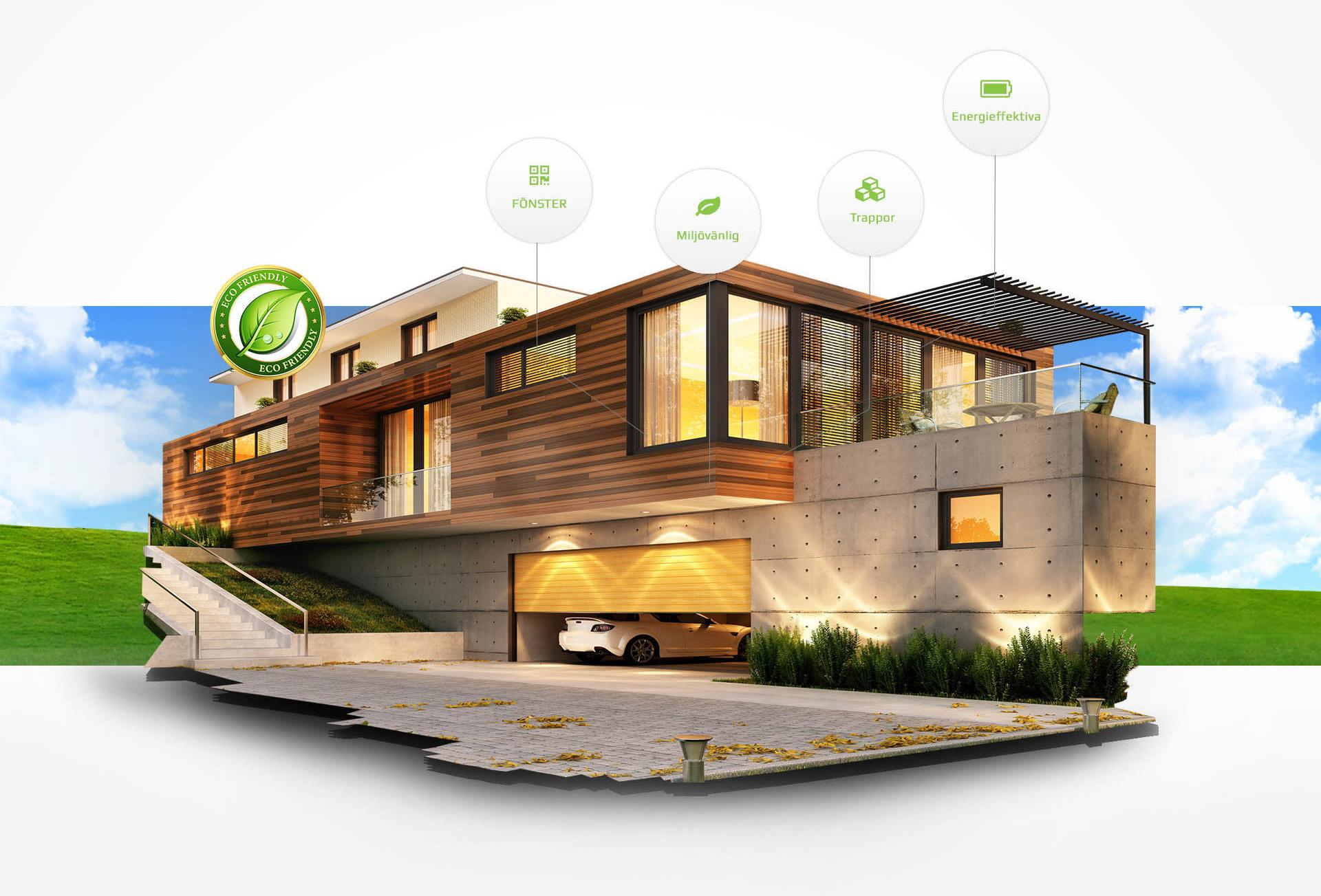 Framtidens hus   modulhus, timmerhus, attefallshus, trappor ...